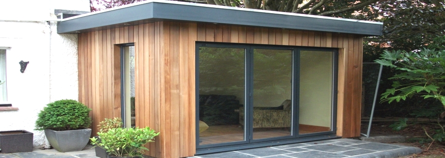 A lovely new wooden framed extension